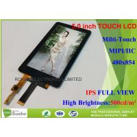 China MIPI Interface Ips Touch Screen , 5 Inch Touch Screen Display 480 X 854 Resolution on sale