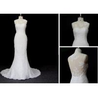 China Sheath Column Fit And Flare Wedding Gown Prom Ball Gown Dresses In White Color on sale