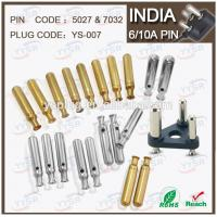 China 5027 & 7032 5.0mm 7.0mm 5/6A south africa india plug with 5/6a 10a crimping holder pin on sale