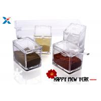Transparent Acrylic Box , Acrylic Seasoning Box For Nuts / Sauces Storage Manufactures