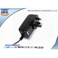 Black 3 Prong 24W 2A 12 volt ac dc adapter With CE Certified Manufactures