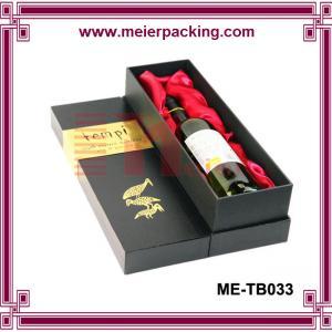 China Top and bottom wine box/Single bottle wine gift box ME-TB033 on sale