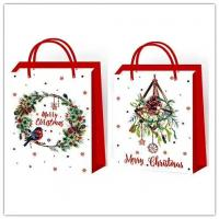 Christmas paper bag, gift bags, Kraft paper shopping bags of Christmas,Paper bag of wine,Valentine's day gifcarrier bags Manufactures