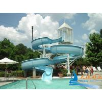 China Commercial Water Park Equipments 7m Lake Open Water Swimming Pool Slides on sale