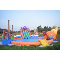 20m Giant Portable Inflatable Water Sport Park With Slide And Pool For Land Manufactures