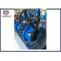 Handle Type Doule Flanged Butterfly Valve Ductile Iron Resilients Seated Manufactures