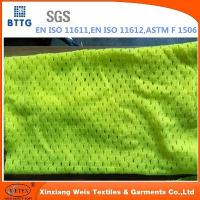 EN20471 inherent FR Modacrylic/cotton knitted mesh fabric Manufactures