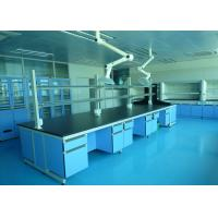 Professional Adjustable Lab Island Bench With 18mm Thick MDF Door / Drawer Manufactures