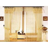 Yellow Emboridery Window Shower Curtain With Polyester Fabric & Metal Eyelets Manufactures