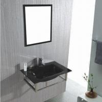 Vanity with Bathroom Glass Cabinet, Measures 800 x 520mm Manufactures