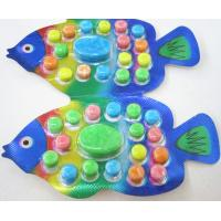 OEM 2.8g Fish Shape Compressed Fruity Hard Candy / Colored Powdered Sugar Manufactures