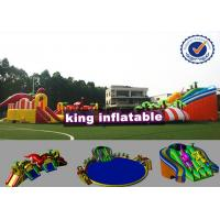 9*8m Colorful Shark Inflatable Water Slide With Pool Commercial Water Park For Kids Manufactures