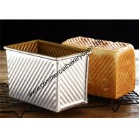 China Large Capacity Bread Making Molds , Gold Loaf Bread Box With Cover on sale