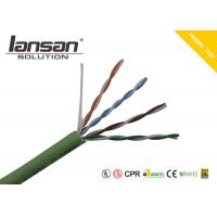 LSZH Jacket CAT5E UTP 24AWG Bare Copper Conductor Green Color for sale