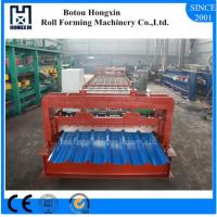 Steel Automatic Roll Forming Machine For Roofing Sheet Max 1mm Process Precesion Manufactures