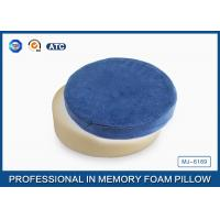 Comfort Round Shape Memory Foam Seat Cushion With Cotton Velour Cover In Blue Manufactures