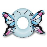 Customized Blue Butterfly Wings Pool Float , Adult Pool Tube With Patch Kit Included Manufactures