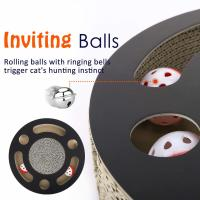 Round Cat Scratcher Lounge Bed Premium Recycled Corrugated Cardboard Material Manufactures