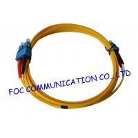 China SC To LC G.652D SM Duplex Fiber Optic Patch Cables Indoor Type With LSZH Jacket on sale