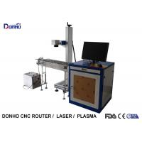 Precise 20W Fiber Laser Marking Machine With Conveyor Belt Easy Operate Manufactures