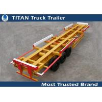 Efficient 45 Foot tri - axle 60 tons container trailer chassis for terminal port Manufactures
