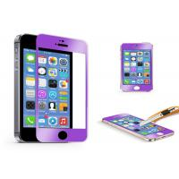 9H Purple explosion proof tempered glass screen protector for iphone 5s , 5c Manufactures