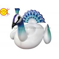 "China 2017 New Inflatable Peacock Pool Floats In Stock Giant Ride On Inflatable Pool Lake Beach Float Floating Peacock 60"" x 8 wholesale"