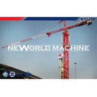 Red Steel TC5210 6T Construction Tower Crane With Hammer Head Manufactures