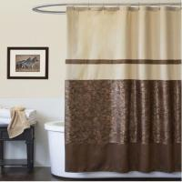 China Customized PEVA Window Shower Curtain With Floral Design For Parlor on sale