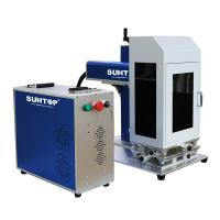 Cnc Portable Laser Marking Machine / Silver Gold Laser Cutting Machine Power 50W With Rotary Manufactures