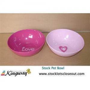 Closeout,stocklot,excess,surplus Pet bowl,dog bowl Manufactures
