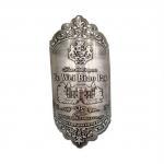 3D embossed metal wine bottle label and perfume bottle label maker Manufactures