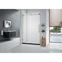 10mm Custom Glass Shower Doors , Frameless Glass Tub Door American Style Roller Sliding Manufactures