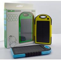 5000mah waterproof & Drop resistance &anti-skid protection solar charger Manufactures