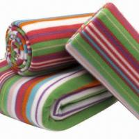 Microfiber Throws/Polar Fleece Blankets with Stitched Edges, Available in Pantone Manufactures