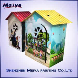 CMYK / Pantone Printing Cardboard Kids Toys , Corrugated cardboard house Manufactures