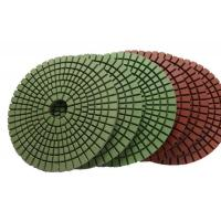 Abrasion Resistant Diamond Resin Polishing Pads Installed On Portable Grinding Machine Manufactures