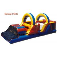 Commercial Inflatable Castle Bouncer / Obstacle With Slide , 16*4*5M Manufactures