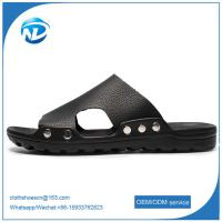 Soft Leather Upper PVC Outsole Sandals For Men Manufactures