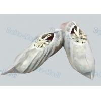 PP White Non Slip Shoe Covers , Lightweight Waterproof Protective Shoe Covers Manufactures