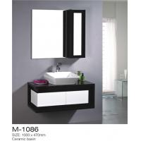 China High Gloss Paint Bathroom Sink Vanity Unit Unique Design With Profile Handle on sale