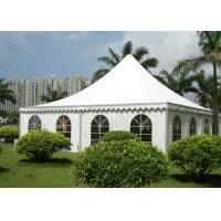 Waterproof PVC Fabric Pagoda Party Tent Flame Retardant  For Outdoor Exhibition Manufactures