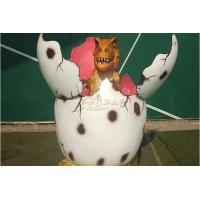 China Manual Interactive Open Pink Hatching Dinosaur Egg Display At Large Zoo on sale