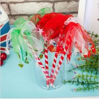 China New craft ballpen with Nylon Ribbons and bell /heart pendants decor for promotion gift on sale