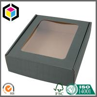 E Flute Corrugated Carton Shipping Box with Clear Plastic Window Custom Color Print Manufactures