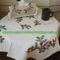 Quality home textile,Embroidery Table cloth, cushion cover for sale