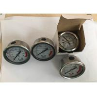 Stainless Steel Oil Filled Pressure Gauge for Water Treatment Back Connection Manufactures