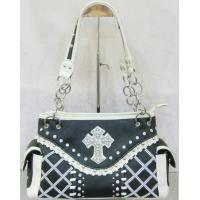 cowgirl black crystal beaded shoulder bags western style low price Manufactures