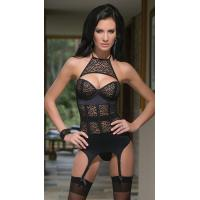 China Animal Print Lingerie Wholesale Leopard Mesh Bustier Size S,M,L Available on sale