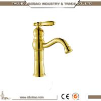 Best design vintage golden sink mixer of basin faucet with deck mounted Manufactures
